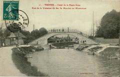 Ancien pont de la Visitation à Troyes - Troyes