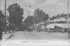 Bordeaux-Le Boulevard Président Wilson dans les années 1930 - Bordeaux