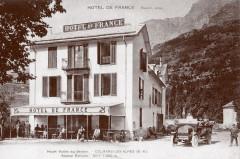 Carte postale ancienne – L'hôtel de France à Colmars-les-Alpes  - Colmars