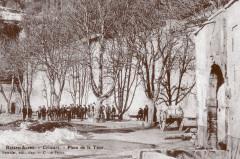 Carte postale ancienne – La place de la Tour à Colmars-les-Alpes  - Colmars