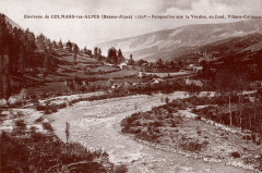 Carte postale ancienne – Le Verdon et la vallée du Haut-Verdon en aval de Colmars-les-Alpes  - Colmars