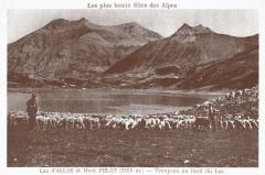 Carte postale ancienne – Les lacs de Lignin  - Colmars