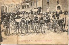 Départ de course cycliste à Mauléon (1920) - Mauléon-Licharre