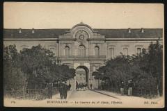 Carte postale Entree caserne Joffre - Montpellier