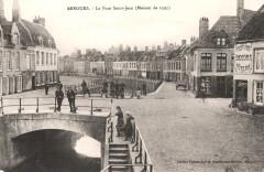 Postcard- Bergues - Le Pont Saint-Jean (Maison de 1597), sent Feb 1915  - Bergues