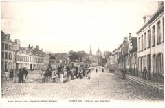 Postcard- Bergues - Marche aux Bestiaux, sent Feb 1915  - Bergues