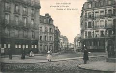Charenton.Place de la Mairie.Rue Marty