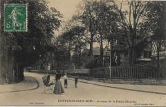 Fontenay-sous-Bois.Avenue de la Dame-Blanche
