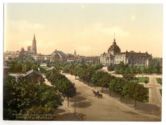 Imperial Palace, theater and cathedral, Alsace Lorraine, Germany-LCCN2002695087