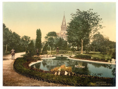Promenade and St. Genieve Church, Mulhausen, Alsace Lorraine, Germany-LCCN2002695082