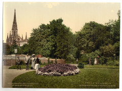 Steinbach Square and protestant church, Mulhausen, Alsace Lorraine, Germany-LCCN2002695079