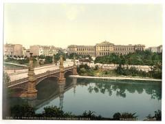 The University and bridge, Strassburg, Alsace Lorraine, Germany-LCCN2002695085