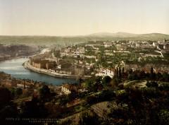 Flickr - …trialsanderrors - Panoramic view of Lyon, France, ca. 1899 - Lyon 1er Arrondissement