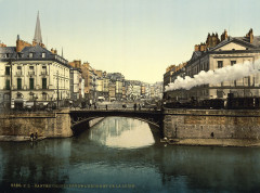 Confluence of Erdre and Loire, Nantes, France, 1890s - Nantes