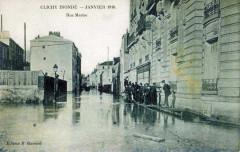 Rue Martre - Crue 1910 92 Clichy