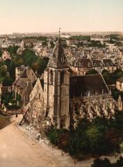 Caen vue générale belle époque ex-église saint-Gilles - Caen