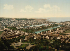 04996u - General view from fort du Roule, Cherbourg, France 50 Cherbourg-en-Cotentin