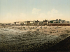 04998 - Casino and beach at low tide, Cherbourg, France - Cherbourg-en-Cotentin