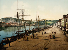 Flickr - …trialsanderrors - Quay Alexandre Iii and commercial docks, Cherbourg, France, ca. 1895 - Cherbourg-en-Cotentin