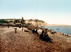 Flickr - …trialsanderrors - The beach and the casino, Dieppe, France, ca. 1895 - Dieppe