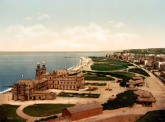 Flickr - …trialsanderrors - The casino and the shoreline, Dieppe, France, ca. 1895 - Dieppe