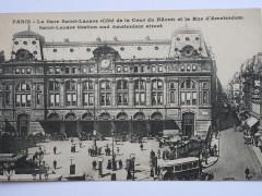 Gare Saint-Lazare, cour du Havre (1910) - Paris 8e