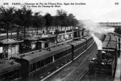 Chemins de Fer de l'Ouest-Etat, ligne des Invalides - La Gare du Champ-de-Mars - Paris 15e