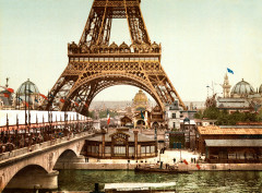Eiffel Tower and general view of the grounds, Exposition Universal, 1900, Paris, France 2 - Paris 16e
