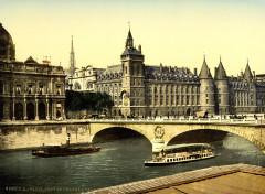 Palais de Justice and bridge to exchange, Paris, France, ca. 1890-1900 - Paris 1er