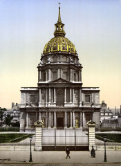 The Dome des Invalides, Paris, France, between ca. 1890 and ca. 1900 France