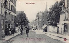 Rue de Ménilmontant - Clocher de l'Eglise Notre-Dame-de-la-Croix - Paris 20e