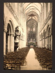 The cathedral, interior, Bayeux, France-LCCN2001697570 France