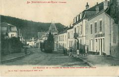 Le Tramway de La Vallée de Celles dans l'Avenue de la Gare - Raon-l'Étape