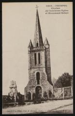 Paimpol - Clocher de l'ancienne Eglise et monument Botrel - Paimpol