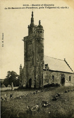 Pleumeur-Bodou - Menhir et chapelle de Saint-Samson - Pleumeur-Bodou