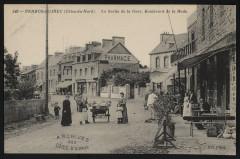 La Sortie de la Gare, Boulevard de la Rade - Perros-Guirec
