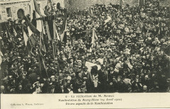 Plourivo. Réélection de M. Armez manifestation du Bourg-Blanc 25 avril 1910 - Plourivo