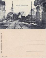 Lille après l'Incendie — Rue de Paris vº-rº - Lille