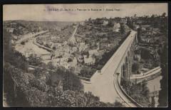 Dinan - Vue sur la Rance et le grand pont - Dinan