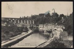 Dinan - Vue générale prise du Saut-à-l'Ane - Dinan