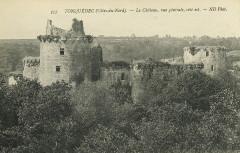 Tonquédec - Château vue générale côté est - Tonquédec
