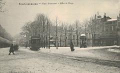 Fontainebleau - Place Denecourt - Effet de Neige - Fontainebleau