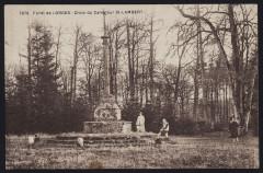 L'Hermitage-Lorge - Forêt de Lorges croix du Carrefour Saint-Lambert - Ploeuc-L'Hermitage