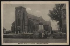Paule - Eglise et monument aux morts - Paule