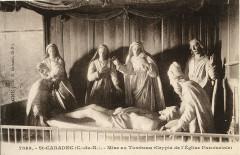 Saint-Caradec - Mise au tombeau crypte de l'église paroissiale - Saint-Caradec