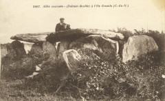 Trébeurden - Allée couverte dolmen double à l'île Grande - Trébeurden