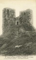 Tréméven - Ruines du château de Coëtmen du XIIe siècle - Tréméven