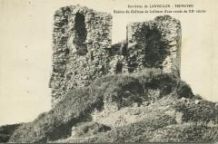 Tréméven - Ruines du château de Coëtmen tour ronde - Tréméven