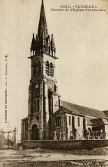Pléhédel, Clocher de l'église paroissiale - Pléhédel
