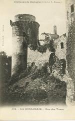 Plédéliac - Château de la Hunaudaie tour - Plédéliac